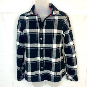 ORVIS black white fleece lined jacket EUC